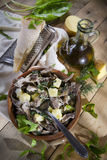 Traditional dish of the Valtellina Italy, Pizzoccheri Stock Images