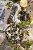 Traditional dish of the Valtellina Italy, Pizzoccheri Royalty Free Stock Photos