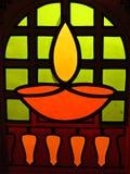 Traditional Diwali Lamp Design Royalty Free Stock Images