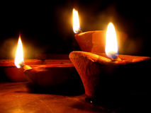 Traditional Diwali Lamps. Beautiful clay/earthen lamps traditionaly lit on the occassion of Diwali festival in India
