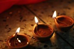 Traditional diwali lamps Royalty Free Stock Photos