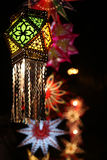 Traditional Diwali Lantern. A traditional Diwali lantern on the backdrop of other lanters during the diwali festival in India Stock Image