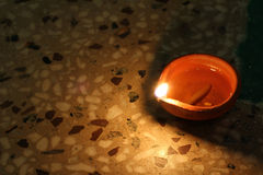 Traditional diya of illumination, diwali festival concept Royalty Free Stock Image