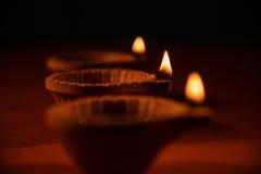 Traditional diya or oil lamp Stock Image