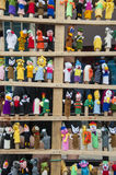 Traditional Dolls on the Indian market Stock Images