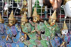 Traditional doll crafts of Thailand stock photos