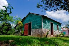 Traditional Dominican rural architecture. View of a traditional rural house, traditional of the Dominican rep Royalty Free Stock Photos