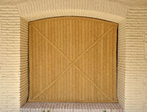 Traditional door of grass cord Stock Image