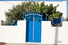 Traditional door in a Greek island Stock Image