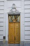 Traditional door made of wood Royalty Free Stock Photography
