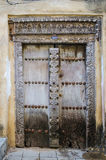 Traditional door in Stone town Stock Photo
