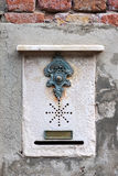 Traditional doorbell in Venice Stock Photography