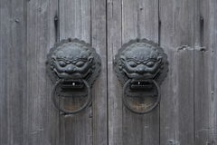 Traditional doorknob in beijing Royalty Free Stock Photography