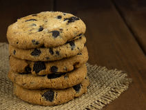 Traditional double chocolate chip cookie Royalty Free Stock Photo