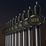 Traditional draft beer tap Stock Photos