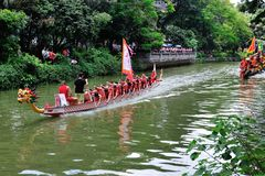 Traditional Dragon boat in Guangzhou Royalty Free Stock Images