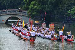 Traditional Dragon boat in Guangzhou Stock Photo