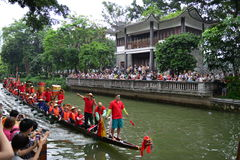 Traditional Dragon boat in Guangzhou Stock Photos