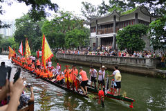 Traditional Dragon boat in Guangzhou Stock Image