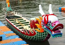Traditional Dragon Boat in Taiwan Stock Image