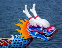 Traditional Dragon Boat in Taiwan Stock Images