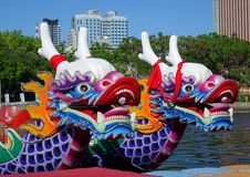 Traditional Dragon Boats in Taiwan Royalty Free Stock Photos
