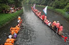 Traditional dragonboat Stock Images