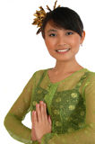 Traditional dress from bali. Girl wearing traditional dress from bali royalty free stock image