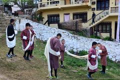 Traditional Dress in Bhutan Royalty Free Stock Photos