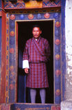 Traditional dress of Bhutan Stock Image