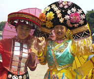 Zhuang Minority People - Traditional Dress - China Stock Photography