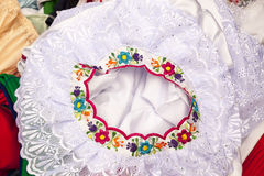Traditional dress, hand embroidered Royalty Free Stock Images