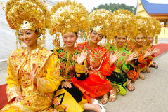 Traditional dress of Minangkabau Stock Photo