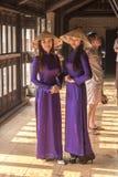 Traditional dress at Tu Duc Tomb (Khiem Tomb) Royalty Free Stock Photos