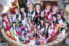 Traditional dressed dolls Royalty Free Stock Photography