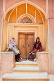 Traditional dressed iranian women posing in Tehran. Traditional dressed iranian women posing in Abyaneh, Iran Stock Photos