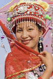 Traditional dressed Zhuang minority girl, Longji, China. LONGJI-CHINA–SEPT. 16, 2006. Zhuang minority girls on Sept. 16, 2006 in Longji. Girls of Zhuang Stock Photography