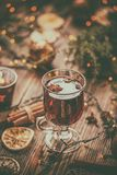 Traditional drink on winter holiday. Royalty Free Stock Photos