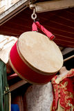 Traditional  drum as an musicak instrument in  market. Traditional drum as an musical instrument in a market Royalty Free Stock Photography