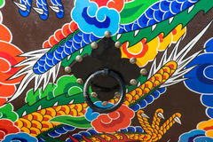 Traditional drum pattern and Knob in South Korea. Stock Photo