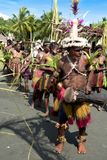 Drummer and dancer in  Papua New Guinea Royalty Free Stock Images