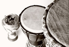 Traditional drums Stock Photography