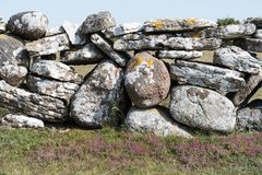Traditional dry stone wall closeup Stock Images