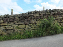 Traditional dry stone wall Royalty Free Stock Photo