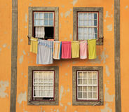 Traditional drying the linen Royalty Free Stock Images