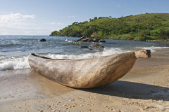 Traditional dugout canoe, Malawi. Stock Photography