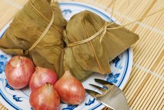 Traditional dumplings and ingredients Royalty Free Stock Photos