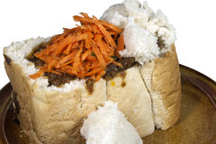 Traditional Durban Mutton Bunny Chow with Sambal Stock Photos