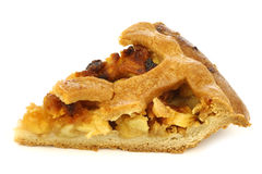 traditional Dutch apple pie slice Stock Image