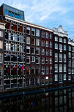 Traditional Dutch Architecture Houses Stock Photography